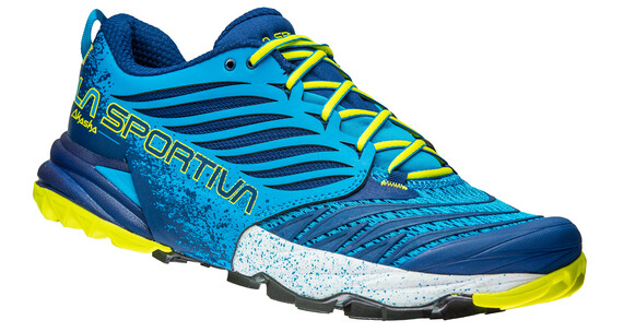La Sportiva Akasha Running Shoes Men Blue/Sulphur